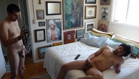Twink Roommates Beat Off